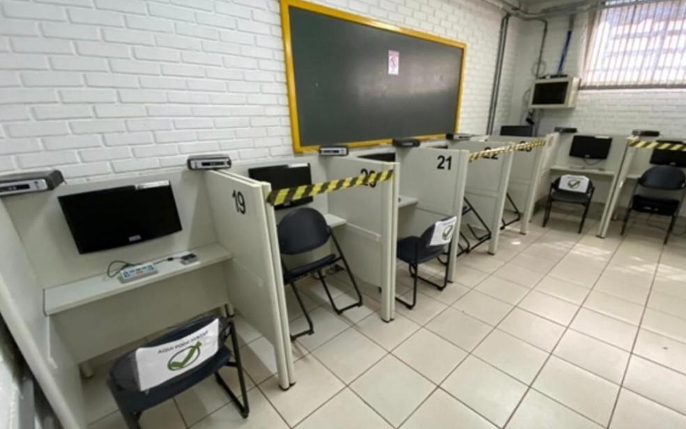 Detran-GO retoma aplicação de provas teóricas — Foto: Divulgação/Detran-GO