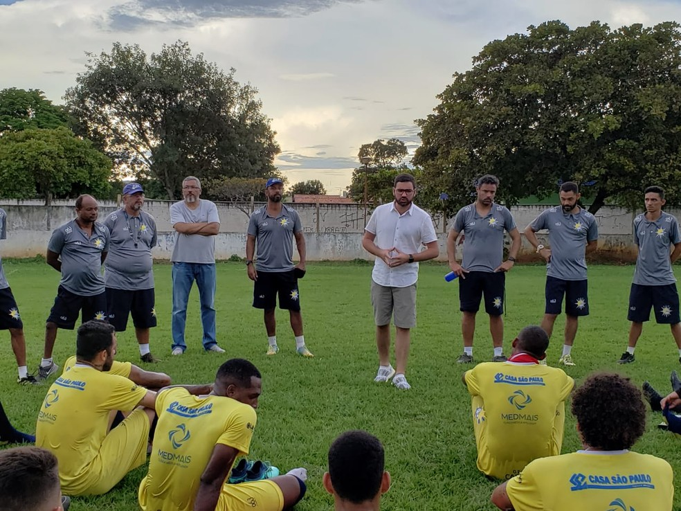 Com um pé na grande final, o Palmas liberou o elenco por causa da pandemia do novo coronavírus — Foto: Divulgação/Palmas FR