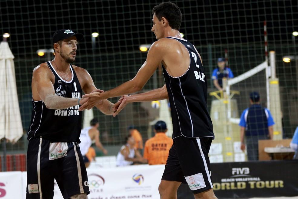 André e Oscar Open de Doha vôlei de praia circuito mundial — Foto: Divulgação/FIVB