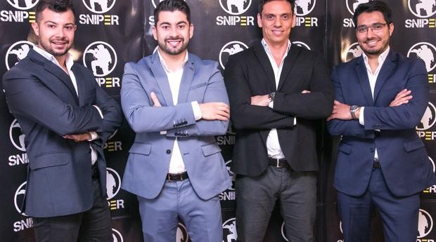 Os sócios da PDMG, que criou a Sniper: Alan Parise, Vinicius Delatorre, Gare Marques e Hilston Guerim (Foto: Divulgação/PDMG)