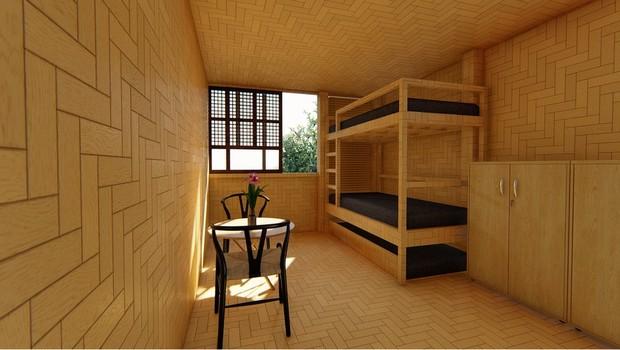 Forlales vai começar a trabalhar em suas casas pré-fabricanas no ano que vem (Foto: BBC)