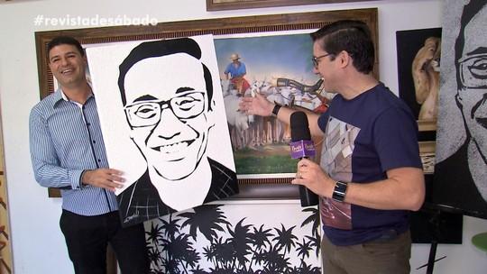 Conheça o talento do Ricardo, artista plástico de Bastos