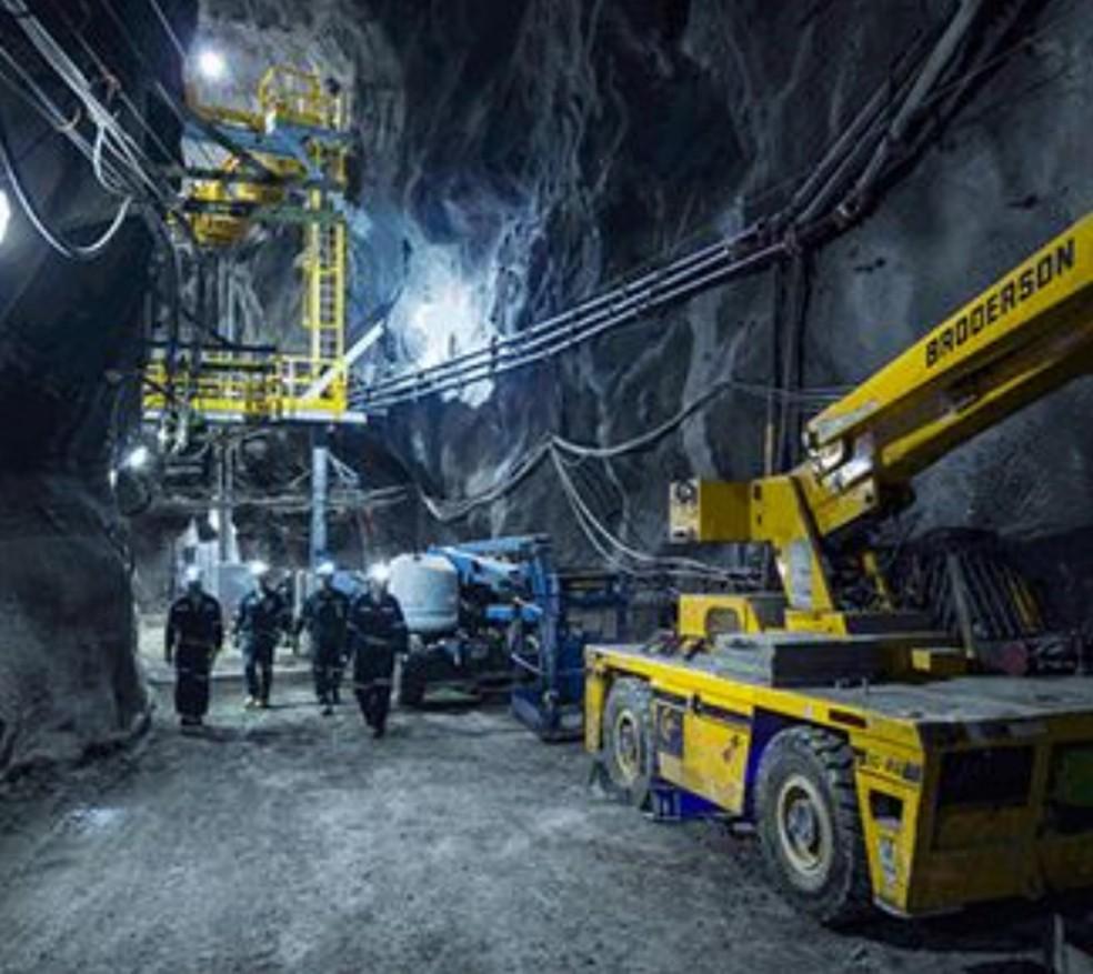 Interior da mina de Totten, em imagem de 2014 — Foto: Divulgação / Maestro Digital