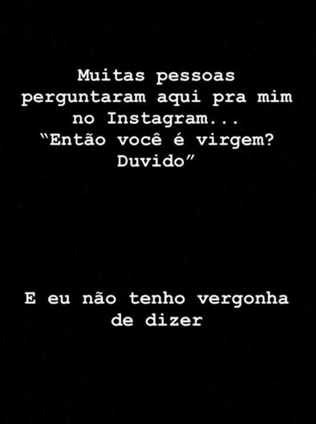 Thomaz Costa faz posts sobre decisão de não transar antes do casamento (Foto: Reprodução/Instagram)