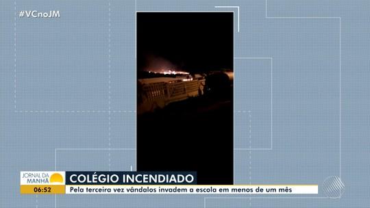 Suspeito de incendiar colégio estadual no norte da Bahia é preso