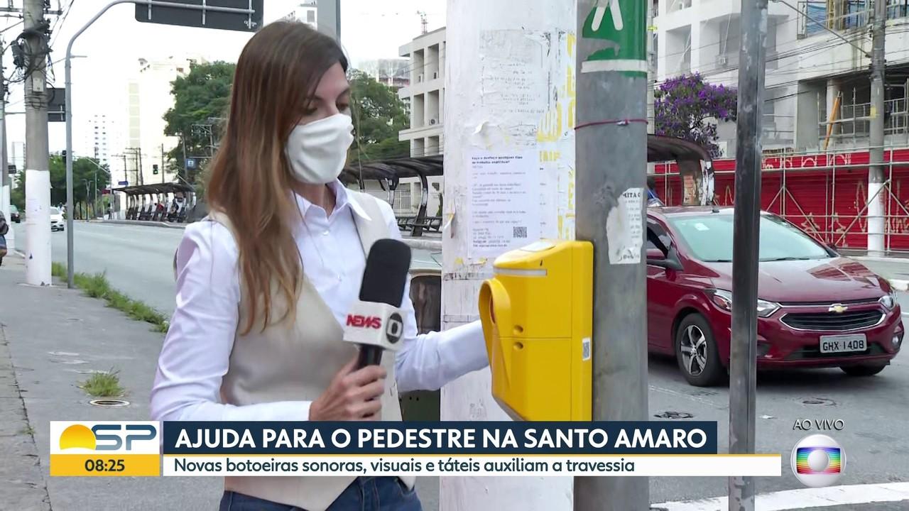 Modernização dos semáforos na Avenida Santo Amaro