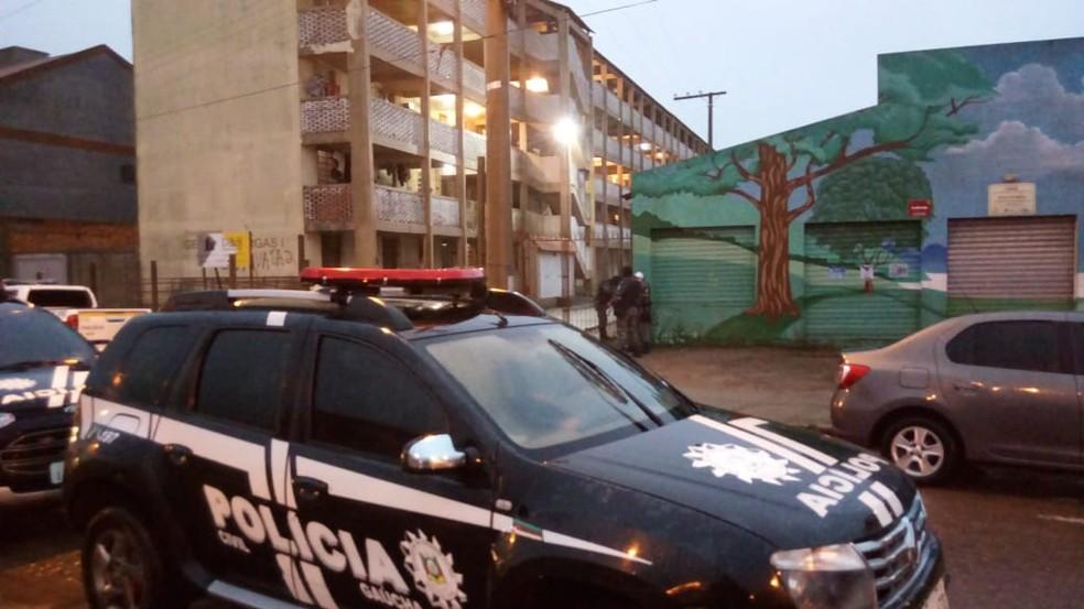 Suspeitos utilizavam apartamentos para guardar drogas — Foto: Divulgação/Polícia Civil