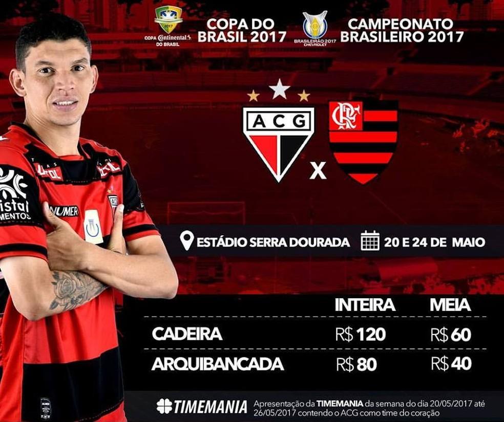 ... Atlético-GO inicia venda de ingressos para jogos contra o Flamengo —  Foto  Divulgação 7132b5a3b8d5e
