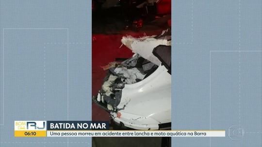 Batida entre moto aquática e lancha mata 1 na Barra da Tijuca