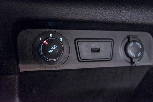 JAC IEV20 - São três modos  de condução: Low, Eco e Sport  (Foto: Bruno Guerreiro)