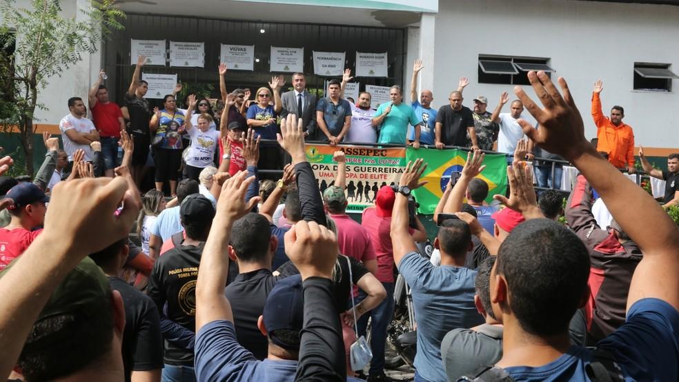 Cabo Sabino é considerado o cabeça da paralisação dos policiais militares, segundo o Ministério Público — Foto: José Leomar