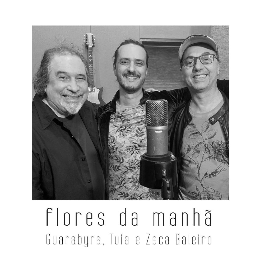 Capa do single 'Flores da manhã', de Tuia com Guarabyra e Zeca Baleiro — Foto: Divulgação