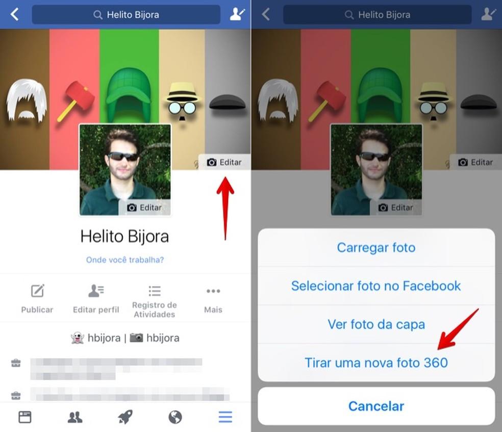 Alterando a foto de capa no Facebook (Foto: Reprodução/Helito Bijora)