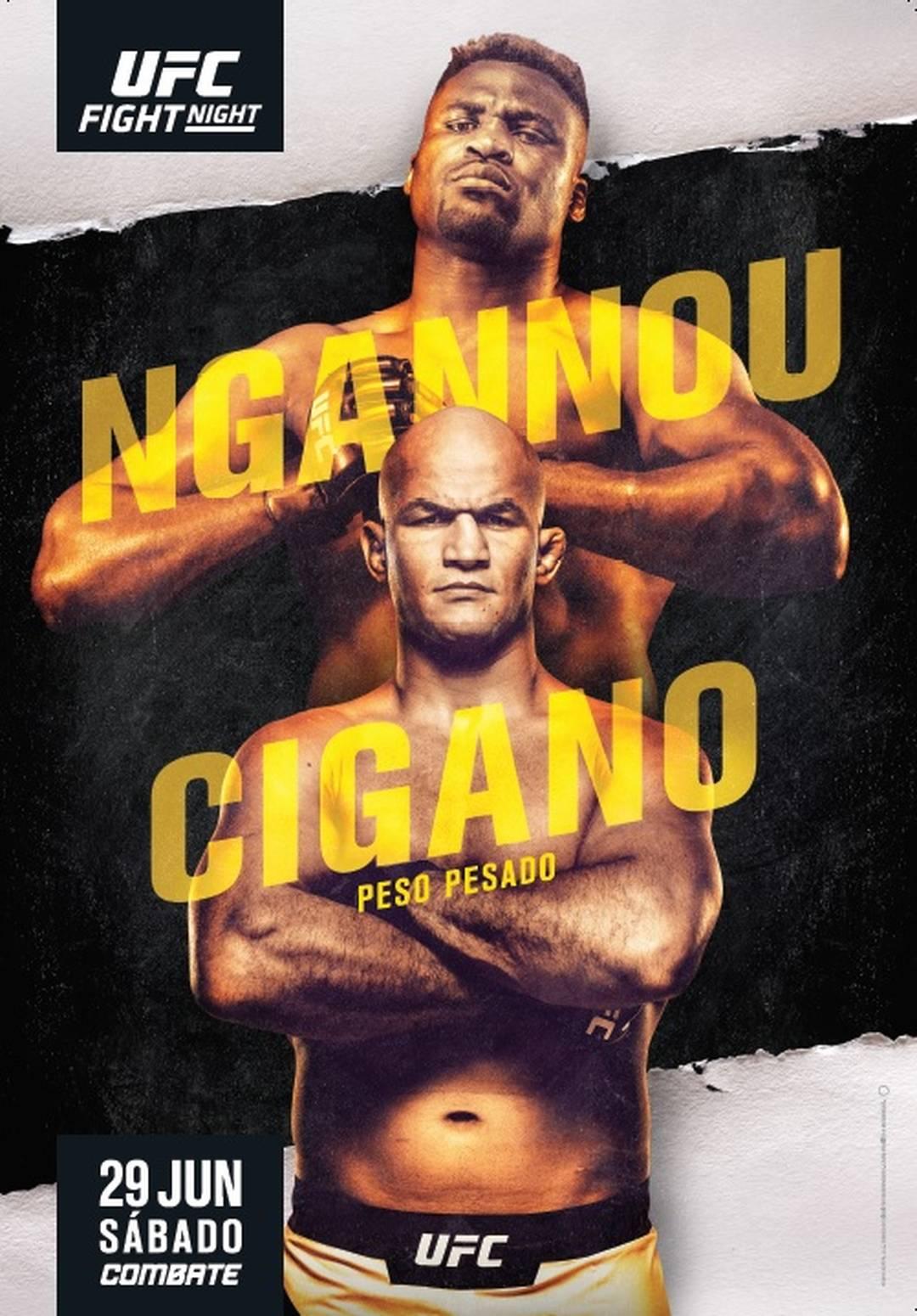 Resultado de imagem para FRANCIS NGANNOU X JUNIOR CIGANO UFC MMA CARTAZ