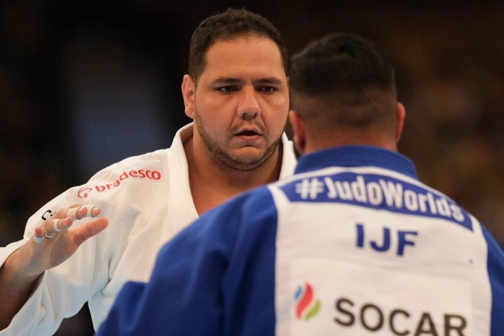 Rafael Silva no Mundial de Judô de Tóquio — Foto: Roberto Castro/ rededoesporte.gov.br