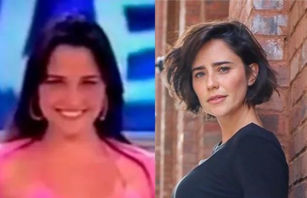 """Já Fernanda Vasconcellos foi assistente de palco do """"Domingo legal"""", do SBT  (Foto: Reprodução)"""