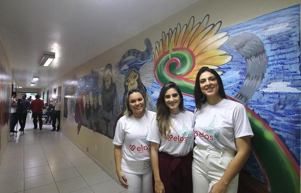 Arquitetas Mara Lorena, Larissa Magalhães e Juliana Maia são idealizadoras do grupo Elos — Foto: Canindé Soares