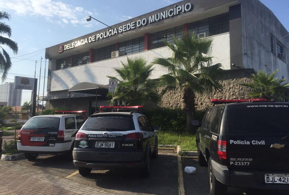 Caso de estupro foi registrado na Delegacia Sede de Praia Grande, SP (Foto: Andressa Barboza/G1)