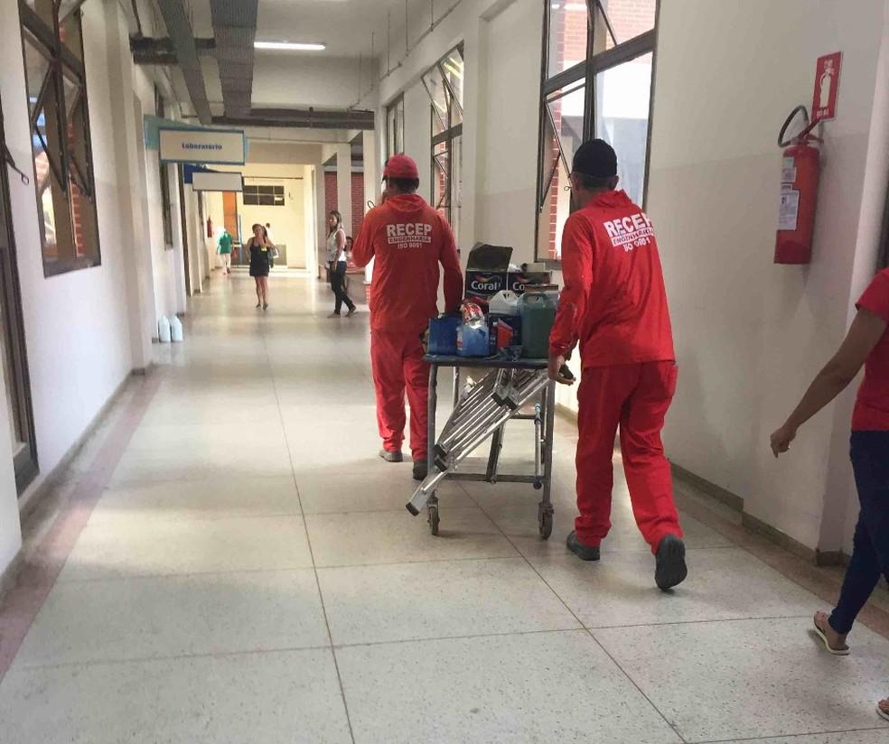 Flagrante foi feito no corredor do HGP — Foto: Divulgação