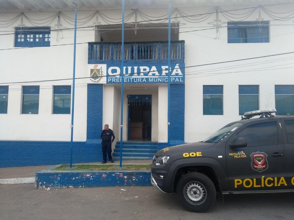 Prefeitura de Quipapá, na Zona da Mata Sul de Pernambuco, é alvo de investigação (Foto: Polícia Civil/Divulgação)