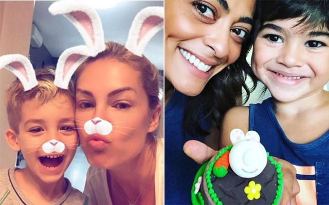 Ana Hickmann e Alexandre e Juliana Paes com Antônio (Foto: Reprodução / Instagram)