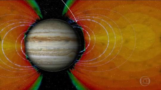 Nasa divulga análises sobre dados de Júpiter enviados pela sonda Juno
