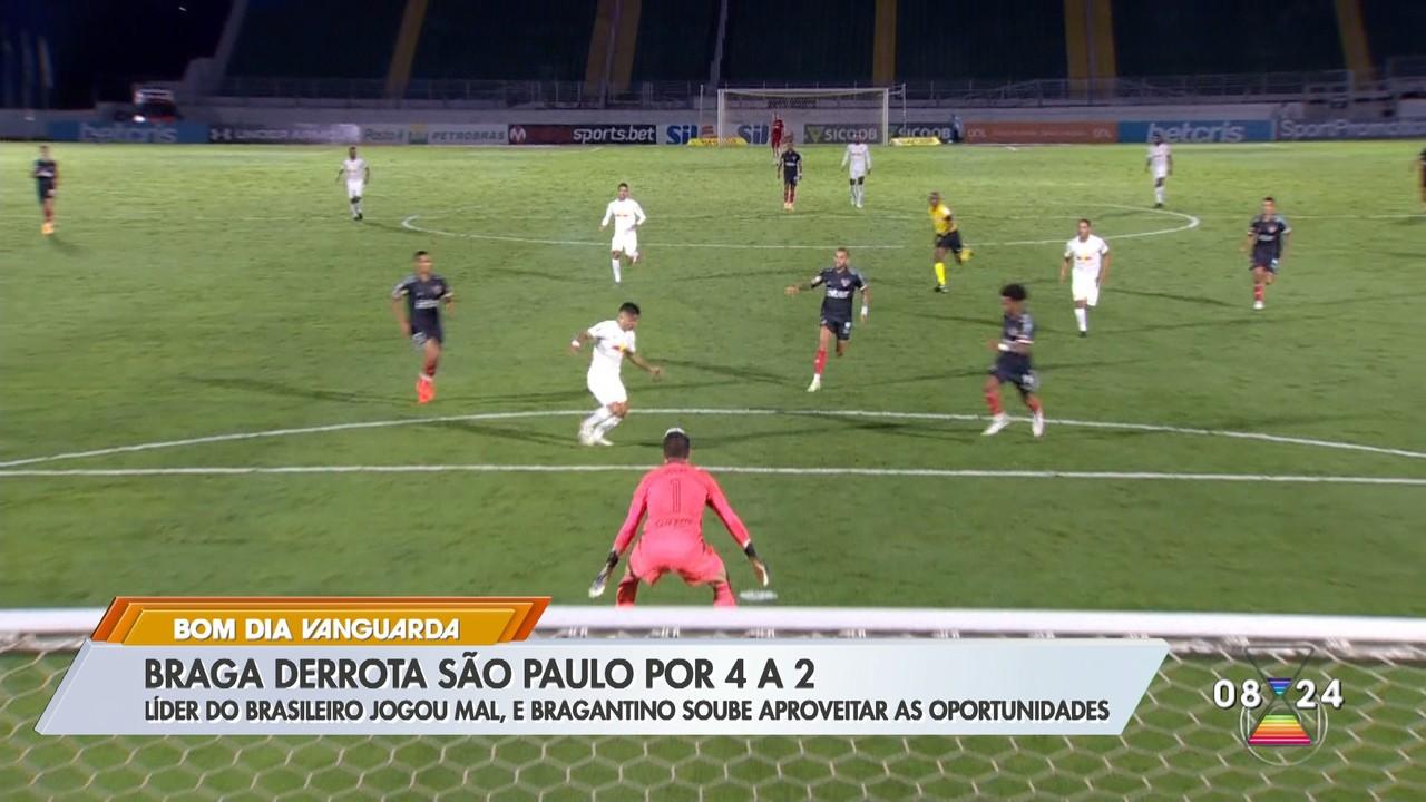 Bragantino derrota São Paulo por 4 a 2