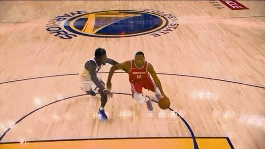 Gordon titular e Harden no centro de tudo: Rockets desafiam os Warriors sem CP3