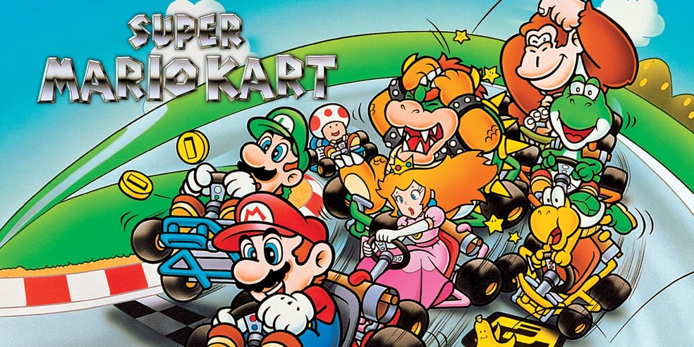 Mesmo tanto tempo após o lançamento, Super Mario Kart ainda tem uma comunidade ativa de players — Foto: Divulgação/Nintendo