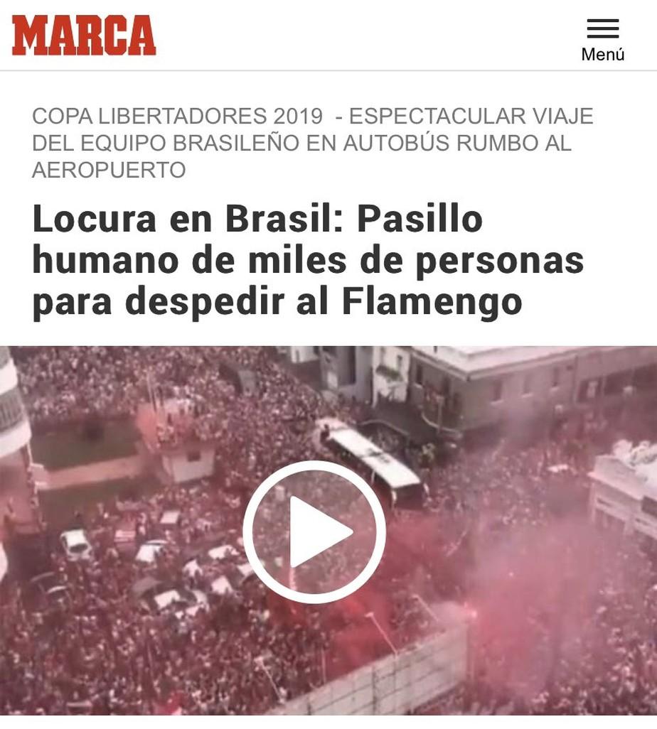 Gafe! Jornal espanhol confunde torcidas de Náutico e Flamengo em matéria da Libertadores