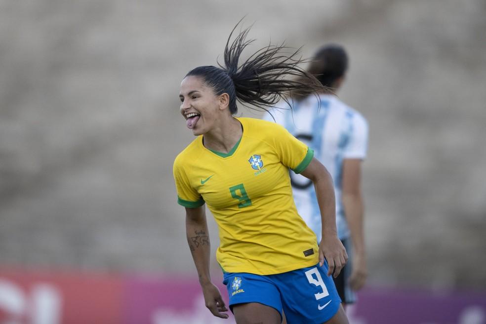 Brasil x Argentina, Brasil, Argentina, seleção feminina, Debinha — Foto: Lucas Figueiredo / CBF