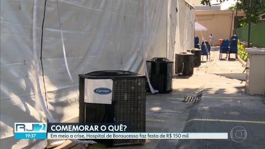 Hospital de Bonsucesso em crise no atendimento vai gastar R$156 mil para comemorar 70 anos da unidade