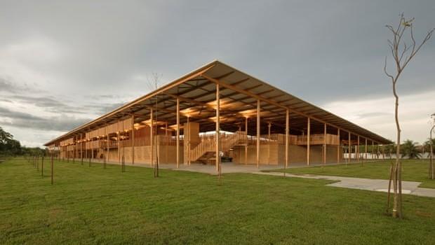 A Aldeia das Crianças foi construída no norte do Tocantins (Foto: Leonardo Finotti/Rosenbaum Arquitetura 2017)
