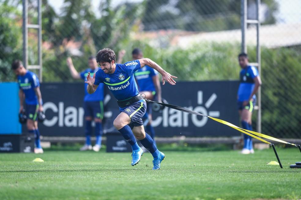 Lucas Silva volante Grêmio — Foto: Lucas Uebel / Grêmio FBPA