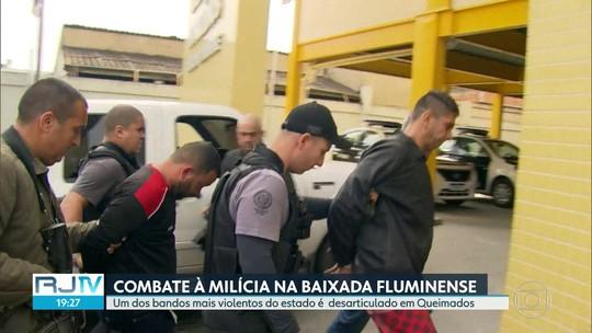 Dezoito pessoas são presas suspeitas de envolvimento com uma milícia em Queimados