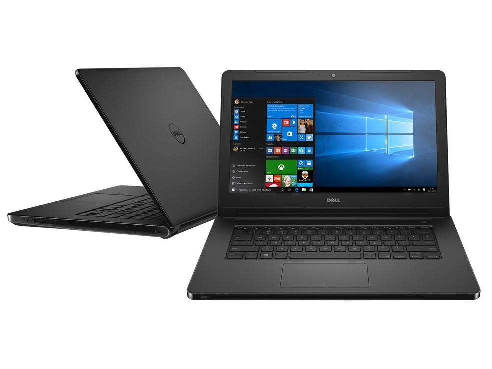 Notebook mais barato pode vir com tela de resolução HD — Foto: Divulgação/Dell