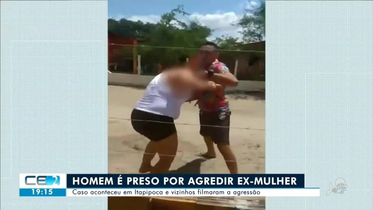 Homem é preso por agredir a ex-mulher em Itapipoca