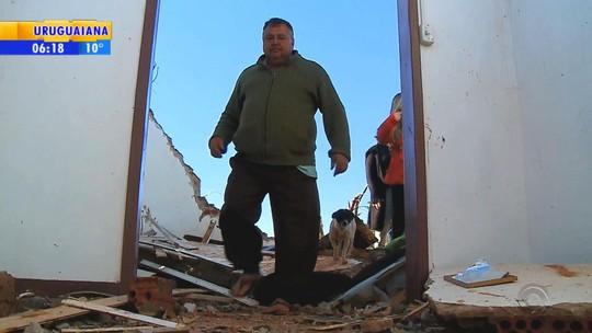 Uma semana após tornado, família ainda aguarda ajuda no RS