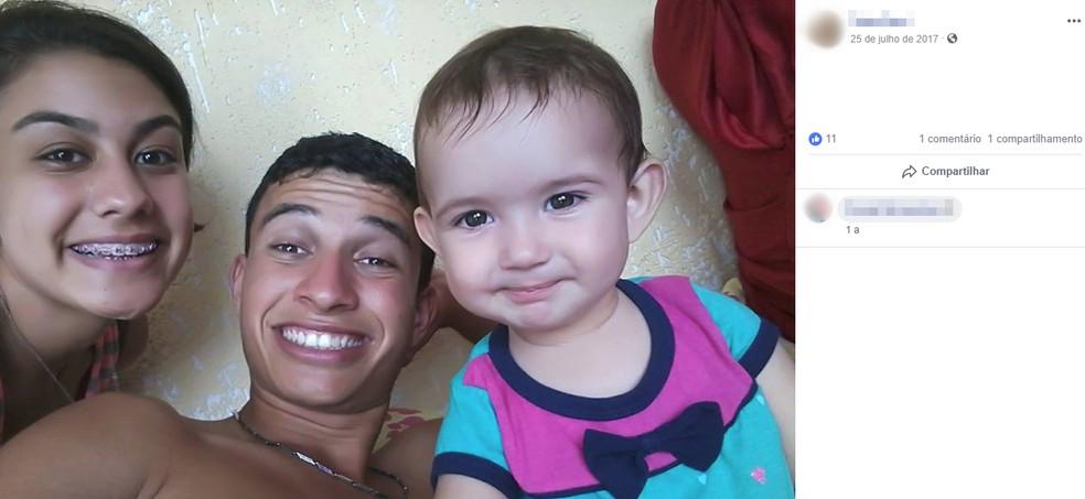Jovem de 18 anos e filha de oito meses desapareceram em Pilar do Sul — Foto: Reprodução/Facebook