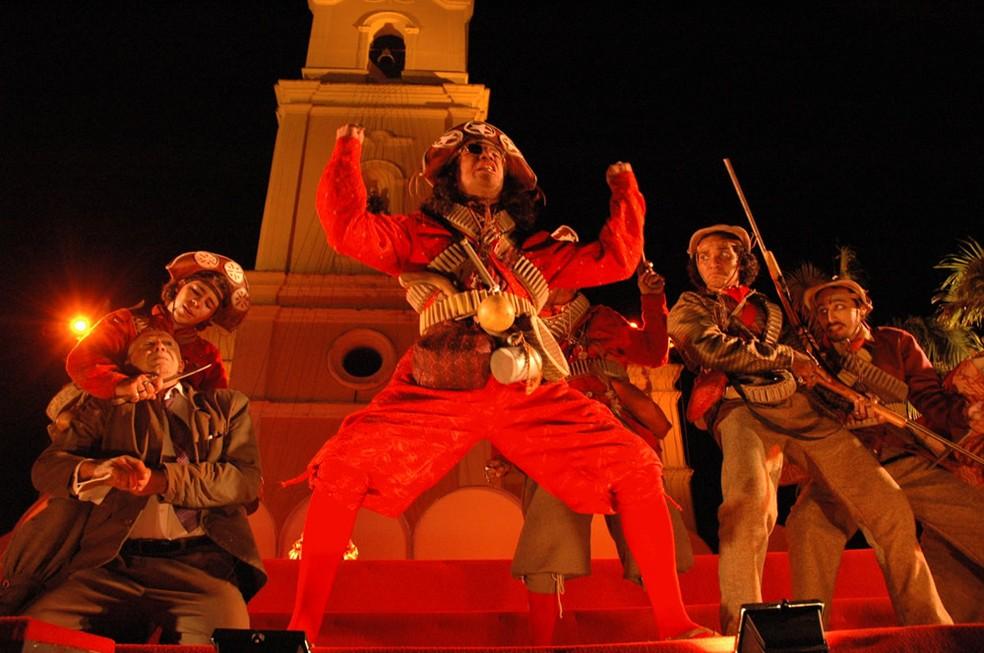 """O espetáculo """"Chuva de Bala no País de Mossoró"""" é uma das atrações da cidade (Foto: Divulgação/Prefeitura de Mossoró)"""