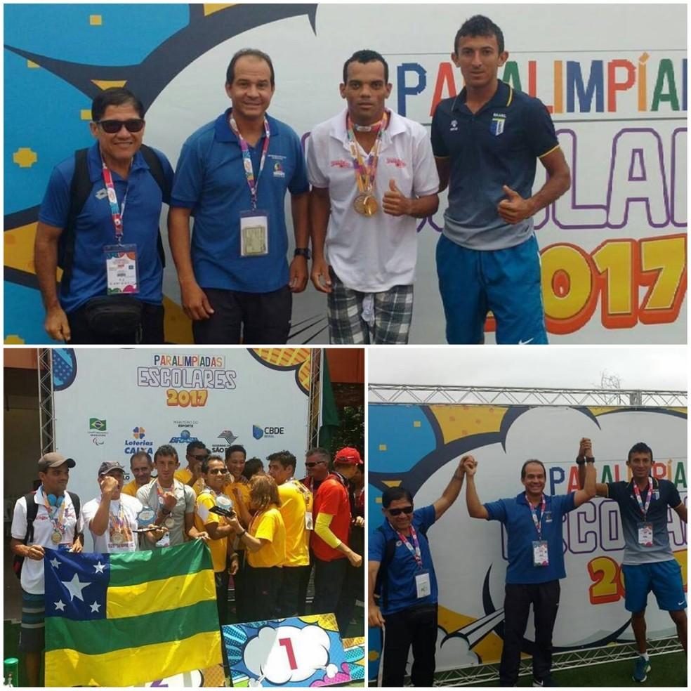 Atletismo sergipano se destaca nas Paralimpíadas Escolares em SP (Foto: Reprodução/Facebook)