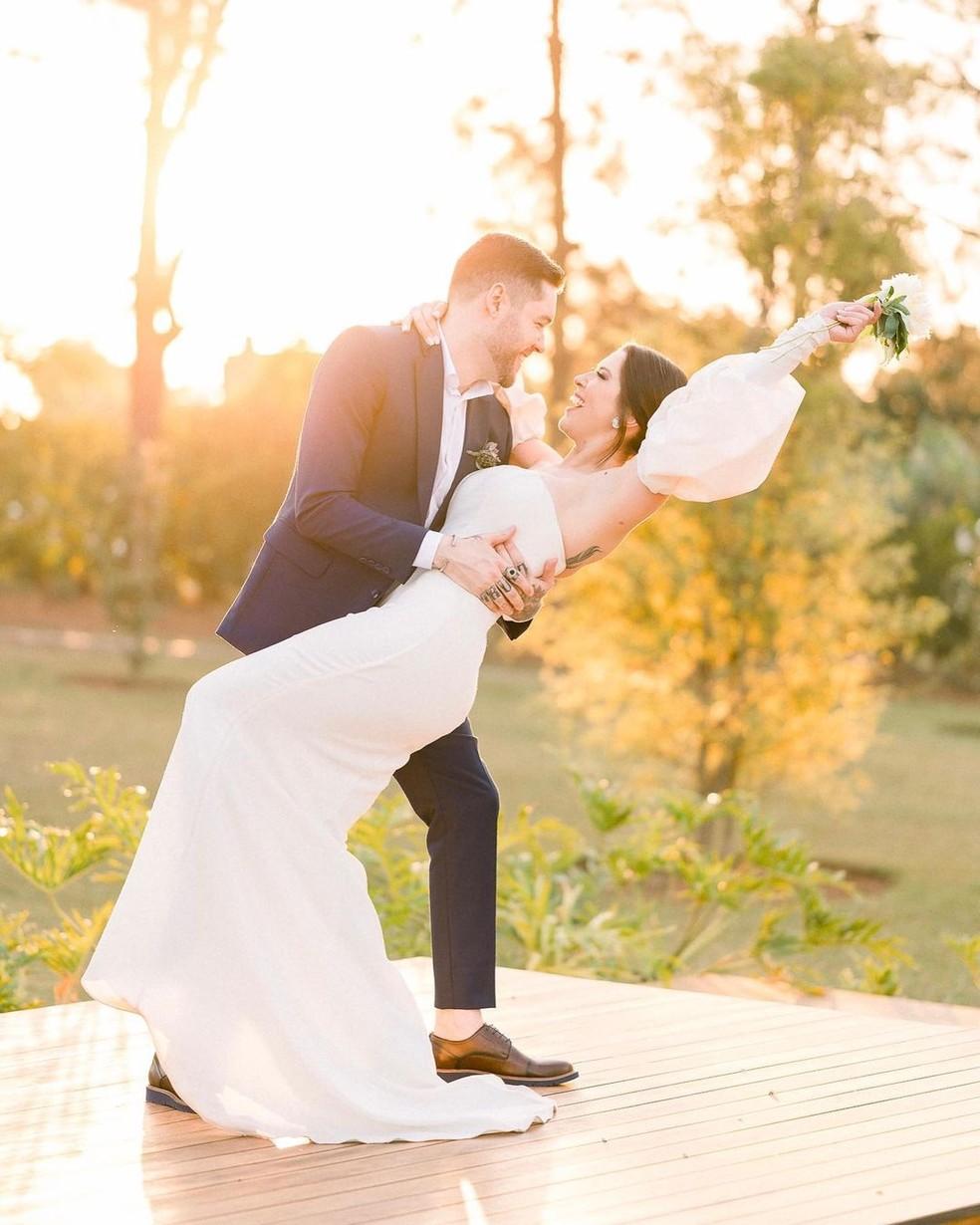 Nasser e Andressa, do 'BBB13', se casaram — Foto: Cama de Gato - Fotografia/Reprodução Instagram