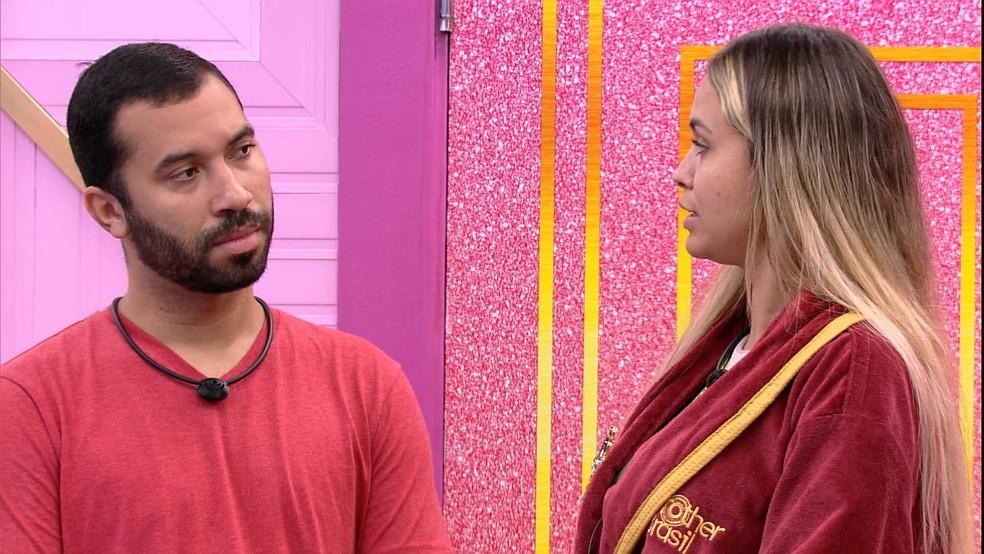 BBB21: Sarah opina sobre briga de Karol Conká e Camilla de Lucas no BBB21: 'Me dá certeza que não estou errada' — Foto: Globo