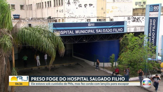 Preso foge do Hospital Salgado Filho, no Méier