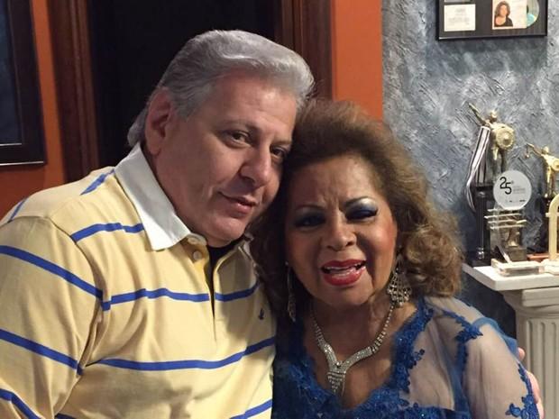 Daniel D'Angelo e Angela Maria (Foto: Reprodução/Facebook)