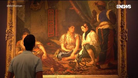 Pedro Andrade visita exposição de Delacroix no MET