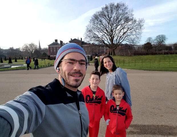 Walter e a família passaram três semanas em Londres: aprendizado e diversão (Foto: Arquivo Pessoal)
