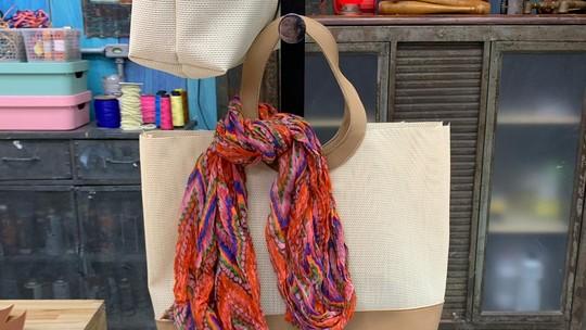Artesã faz bolsa de praia gastando menos de R$ 15 e vende por R$ 80
