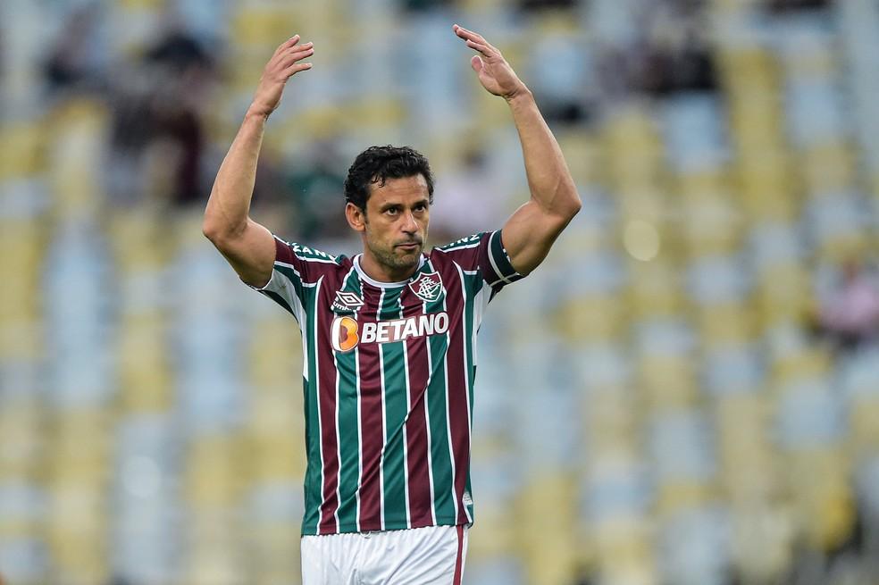 Fred, em Fluminense x Atlético-GO — Foto: Thiago Ribeiro / Agif
