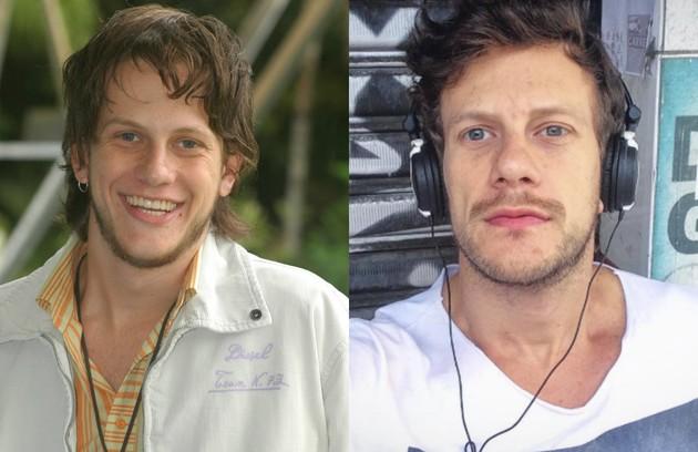 Eduardo Pelizzari, o Fred da temporada de 2006, fez alguns trabalhos como ator depois de 'Malhação' e, em 2010, participou do reality 'A fazenda', na Record. O ator voltou ao ar recentemente em 'Carinha de anjo', do SBT (Foto: TV Globo e reprodução)